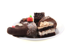 Sweet desserts isolated Royalty Free Stock Photos