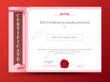 Sweet diploma certificate template design with international pri Stock Images