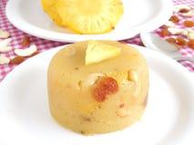 Sweet Dish. Pineapple kesari bath, a traditional Indian sweet dish, made from semolina, ghee, raisins, cashew nuts, pineapple and sugar Stock Image