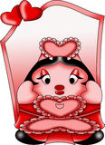 Sweet doll valentine Royalty Free Stock Image