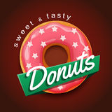 Sweet donut advertising banner Royalty Free Stock Photos