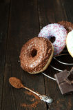 Sweet donut with chocolate Royalty Free Stock Photos