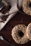 Sweet donut with chocolate Royalty Free Stock Photo