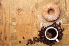 Sweet donut and coffee Stock Photo