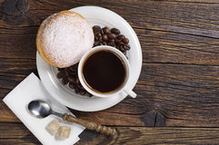 Sweet donut with coffee Stock Image