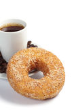 Sweet donut and coffee Royalty Free Stock Photography