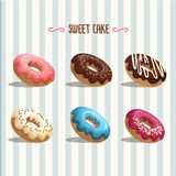 Sweet donut  illustration Stock Images