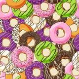 Sweet donut illustration Royalty Free Stock Photo