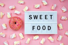 Sweet Donut with Lightbox royalty free stock image