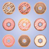 Sweet donut set Stock Image
