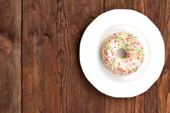Sweet donut. So sweet that you can not resist to eat it for lunch Stock Image