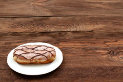Sweet donut. So sweet that you can not resist to eat it for lunch Stock Photography