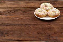 Sweet donut. So sweet that you can not resist to eat it for lunch Stock Images