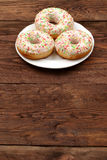 Sweet donut. So sweet that you can not resist to eat it for lunch Stock Photo