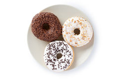 Sweet donuts. The photo shot of the sweet donuts royalty free stock images