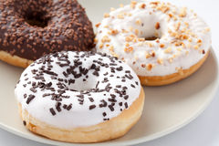 Sweet donuts. The photo shot of the sweet donuts stock photography