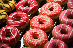 Sweet donuts arranged Stock Image