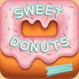 Sweet donuts background Royalty Free Stock Photography