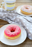 Sweet donuts for breakfast Stock Photography