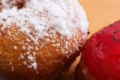 Sweet donuts close-up. Royalty Free Stock Image