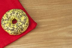 Sweet donuts with coffee. Sweet treat with coffee. Donuts as quick homemade treats. Junk food diets enemy. A symbol of junk food and obesity, donut for a snack stock photos