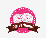 Sweet donuts design Royalty Free Stock Photography