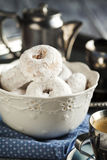 Sweet donuts with icing sugar Royalty Free Stock Photos