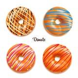 Vector illustration of donuts stock illustration