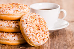 Sweet donuts with sprinkles. Stock Image