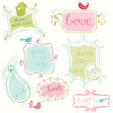 Sweet Doodle Frames Stock Image