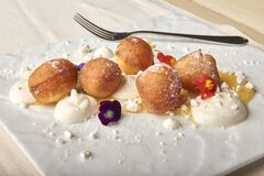 Sweet dough balls Royalty Free Stock Images