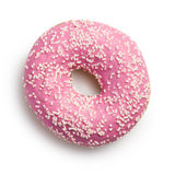 Sweet doughnut on white Stock Image