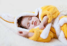 Sweet dream of the little girl Stock Photo