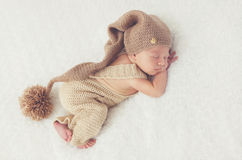 Sweet dream of the newborn child Royalty Free Stock Photography