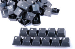 Sweet dreams. Formed by keys on a computer keyboard Stock Image