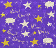 Sweet dreams. Cute kids background royalty free illustration