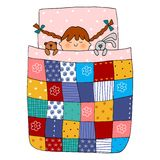 Sweet dreams. Colorful graphic illustration for children Royalty Free Stock Photography