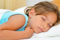 Sweet dreams, adorable toddler girl sleeping. Sweet dreams, real adorable toddler girl sleeping Stock Images