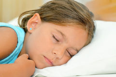 Sweet dreams, adorable toddler girl sleeping Stock Image