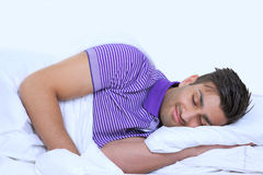 Sweet dreams in bed Royalty Free Stock Photos