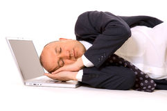 Sweet dreams of businessman Royalty Free Stock Photo