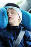 Sweet dreams in car stock image
