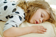 Sweet dreams of child Stock Images