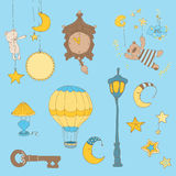 Sweet Dreams - Design Elements for baby scrapbook royalty free illustration