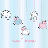 Sweet Dreams. Design, vector illustration Stock Image