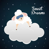 Sweet dreams design. Sweet dreams design, vector illustration eps 10 Royalty Free Stock Photography