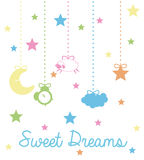 Sweet dreams design. Stock Images