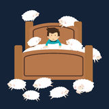 Sweet dreams design. Sweet dreams design, vector illustration eps 10 Stock Image