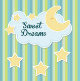 Sweet dreams design. Royalty Free Stock Images