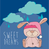 Sweet dreams. Design, vector illustration graphic Royalty Free Stock Images